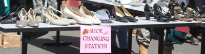 """Show Changing Table at the, """"Walk A Mile In Her Shoes,"""" event"""