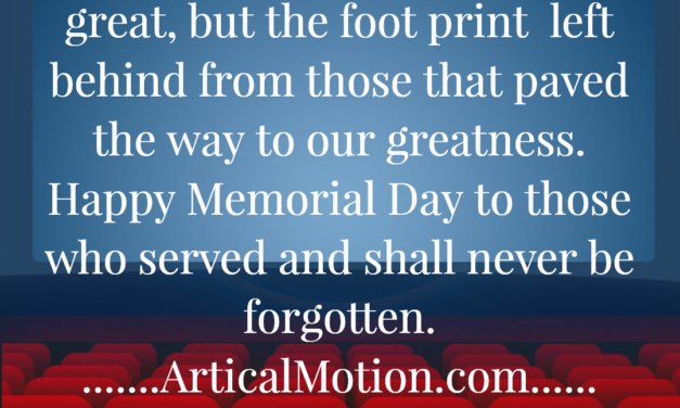 HAPPY MEMORIAL DAY TO THOSE WHO HAVE SERVED
